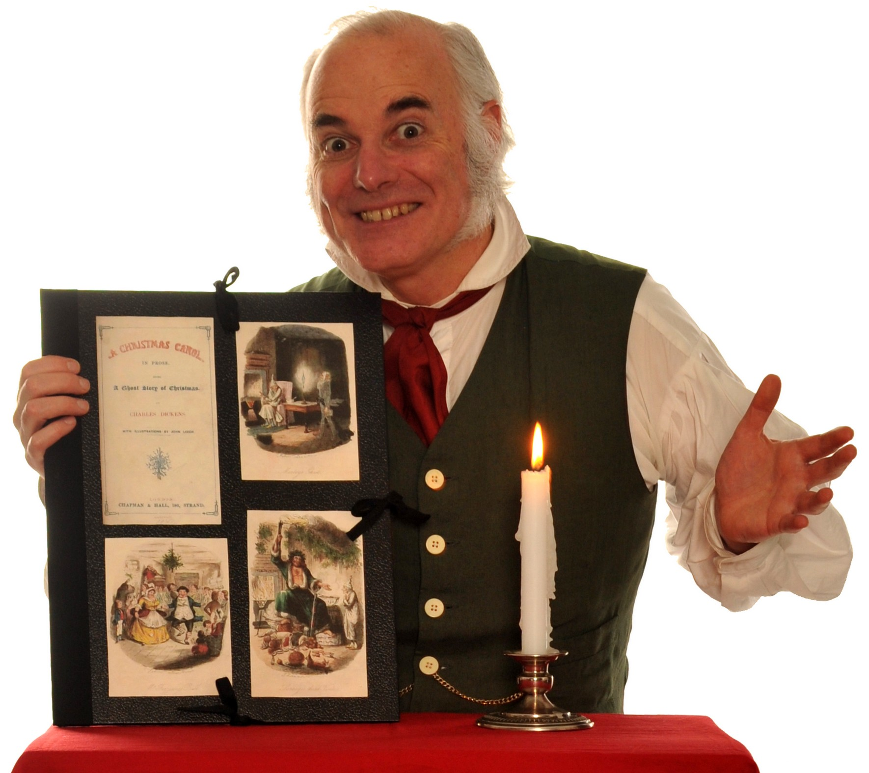 """Englishman Thomas Hutchinson invites you to A Christmas Carol Times Two!"